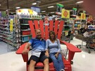 Get your photo taken in our big Red Chair!