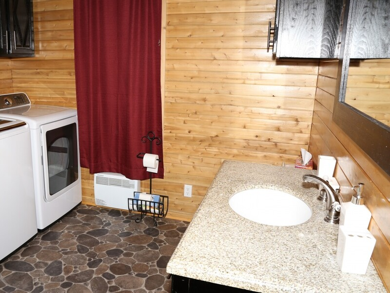 Location du chalet le chalet dan 39 s saint modeste bas for Salle de bain xavier laurent